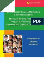 Facilitating Emotional Self Regulation in Preschool Children