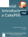 Tutorial Introductorio a CakePHP