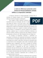 Considerações sobre as diferenças presentes entre a Empresa Individual de Responsabilidade Limitada (EIRELI) e o Empresário Individual