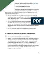 Network Management Sessionals