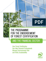 PEFC and the Financial Sector