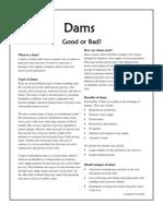 Dams Fact Sheet