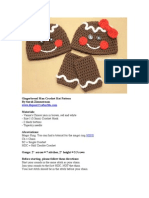 Crochet Gingerbread Man Hat