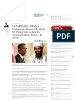 FLASHBACK- Obama Campaign Accused Clinton of Using Bin Laden To
