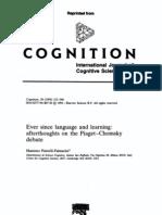 PIATTELLI - Cognition (1994) - Piaget Chomsky Debate