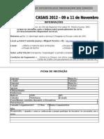 Ficha de Inscricao 2012