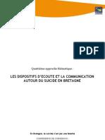 TMO Régions - CCPS 6. Les DispositIfs d'écoute Et La Communication Autour Du Suicide en Bretagne
