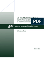 Left Out of No Child Left Behind Teach for Americas Outsized Influence on Alternative Certification 145912598416