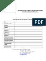 Ficha de Inscripcion Ultreya
