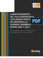 Comportamiento de los 28 municipios con menor IDH de Chiapas entre 2005 y 2010 en el marco de los ODM