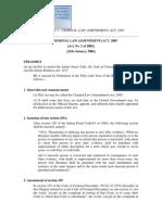 Criminal Law Amendment Act2005 Cr p
