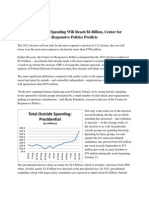 2012 Election Spending to Reach $6 Billion