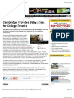 Cambridge Provides Babysitters for College Drunks