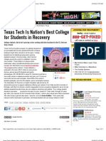 Texas Tech Is Nation's Best College for Students in Recovery