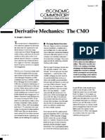 Derivatives Mechanics the Cmo