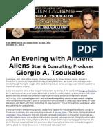 Ancient Alien TV Star Giorgio Tsoukalis hits VEGAS this SATURDAY!