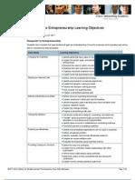 P21 to Entrepreneurship Learning Objectives 28Feb11