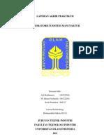 Laporan Praktikum Sistem Manufaktur