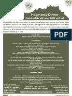 Edinburgh Larder Bistro Hogmanay Tasting Menu 2013