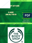 Case Analysis - The Body Shop