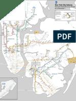 MTA Subway Map for Thursday