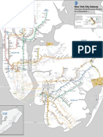 MTA Subway Map for Thursday