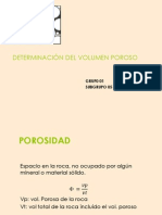 DETERMINACIÓN DEL VOLUMEN POROSO