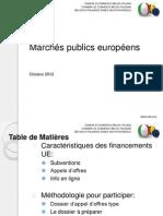 Marchés publics européens