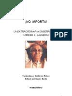 Balsekar Ramesh - No Importa