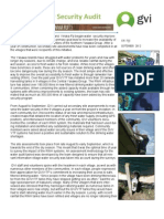 GVI Fiji Achievement Report - Sept 2012, Annual Water Security Audit