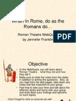 Roman Theatre Webquest - Use for Students