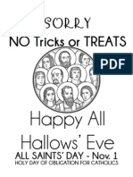 All Hallows' Eve Sign for Front Porch