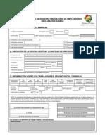 Formulario Registro Obligatorio Empleadores Con Instrucivo