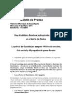31-03-2011 Hoy Aristóteles Sandoval entregó más patrullas en el barrio de Analco