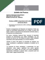 06-04-2011Destaca JASD La Importancia Del Ordenamiento Territorial Urbano