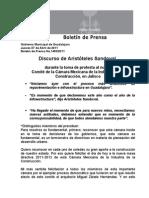 07-04-2011Discurso de Aristóteles Sandoval