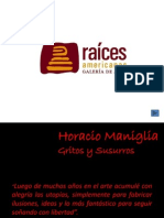 Catálogo Virtual - Horacio Maniglia Gritos y Susurros