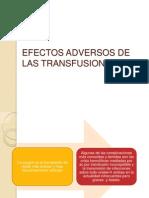 Efectos Adversos de Las Transfusiones