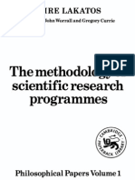 Lakatos. the Methodology of Scientific Research Programmes