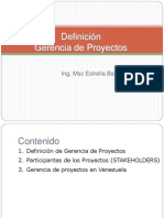 1-Definicion Gerencia de Proyectos