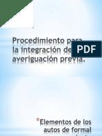Procedimiento para la integración de la averiguación previa
