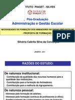 Silvério Conceição - PPT para P.G. em Administração e Gestão Escolar