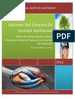 Informe Del Sistema de Gestion Ambiental