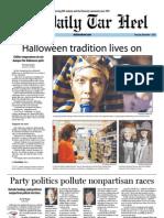 The Daily Tar Heel for November 1, 2012
