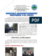 OCTOBER 2012- PCR Accomplishment Report