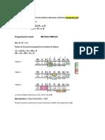 Simplex Excel