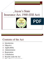 The Employee's State Insurance Act, 1948 (