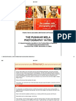 The Pushkar Mela - Photography Yatra