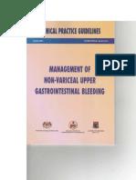 Management of Non Variceal Upper Gastrointestinal Bleeding