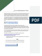 Handleiding Voor Het Gebruik Van Feedbacksjablonen in Word Bij Schrijven I